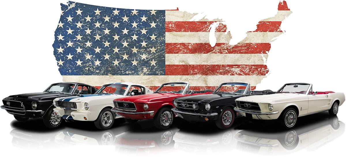 Der Banner von München mit Ford Mustang
