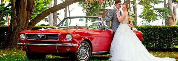 Mustang als Hochzeitsauto