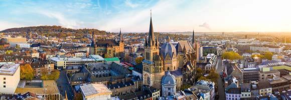 Stadtpanorama von Aachen
