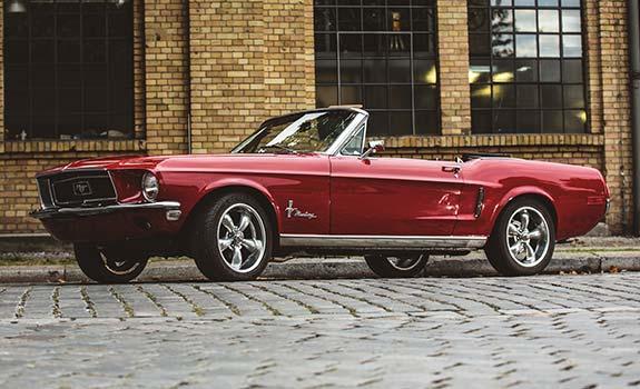 Fahrzeug Ansicht 1, Ford Mustang Cabriolet, Baujahr 1968, rot 2