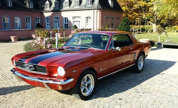 Fahrzeug Ansicht 1, Ford Mustang, Coupe, Baujahr 1966, Chrom