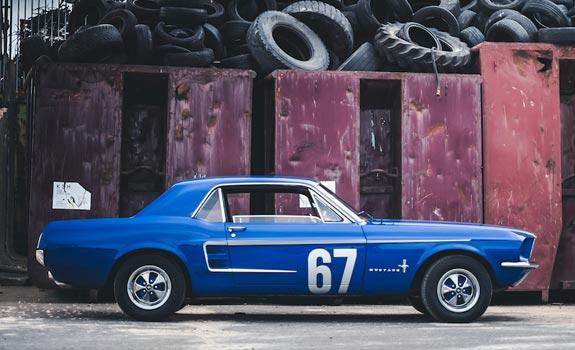 Fahrzeug Ansicht 1, Ford Mustang, Coupe, Baujahr 1967, blau