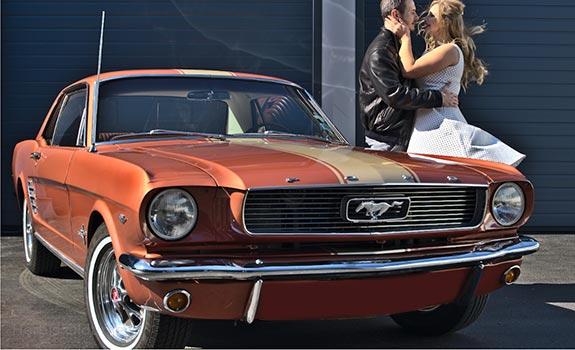Fahrzeug Ansicht 1, Ford Mustang Coupe, Baujahr 1966, Kupfer