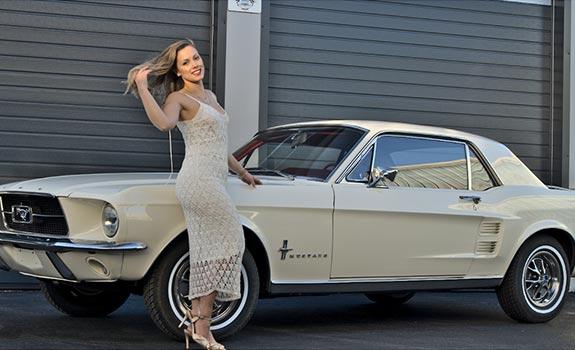 Fahrzeug Ansicht 2, Ford Mustang Coupe, Baujahr 1967, Wimbledon White