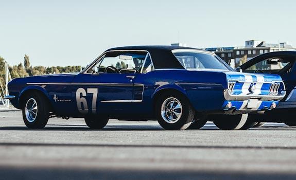 Fahrzeug Ansicht 2, Ford Mustang, Coupe, Baujahr 1967, blau
