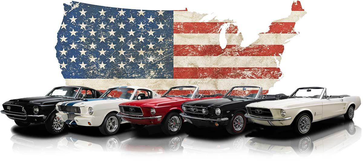 Ford Mustang mieten: Banner. Einmal Mustang fahren.