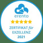 Geschenk für Frauen-Erento-zertifikat_150x150_weiss_goldene_sterne