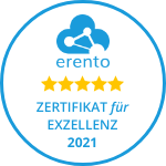 Geschenk für Schwester-Erento-zertifikat_150x150_weiss_goldene_sterne