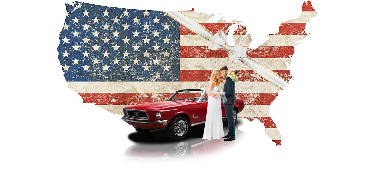 Hochzeitsauto Ford Mustang