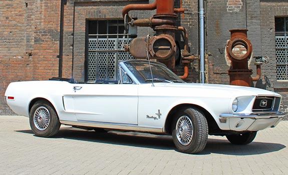 Mustang V8 1968 Cabrio weiss Bild 1