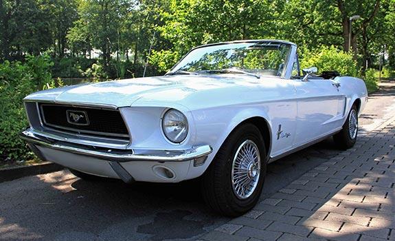 Mustang V8 1968 Cabrio weiss Bild 2