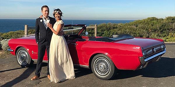 Ein-V8-Ford-Mustang-Hochzeit