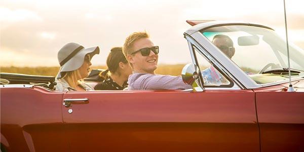 Hochzeits-Auto Mustang